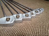 Square Two gold club set Slazenger golfing bag