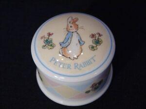 "Wedgwood Collection, Peter Rabbit ""My Firt Hair Cut"" Jar London Ontario image 3"