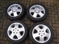 Genuine Mercedes alloy wheels with Michelin tyres, in very good condition. 195x50x15