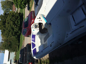 Cool looking jet sport boat ,120 Mercury and brand new interior