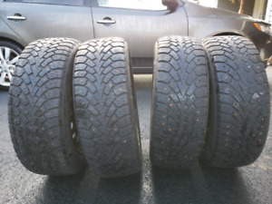 4 used tires and rims, 205/55R16, Goodyear Nordic Winter