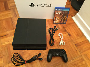 Ps4 Complete 500gig modele fini mat- The Walking Dead - 340$