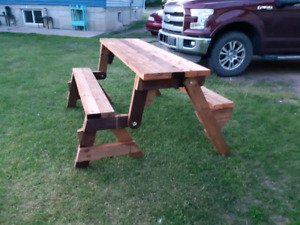 Beautiful folding picnic table to bench