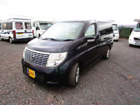 Nissan Elgrand two berth campervan for sale