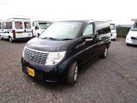 Nissan Elgrand two berth campervan for sale