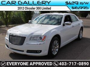 2012 Chrysler 300 Limited w/Leather, Sunroof, BlueTooth $129B/W