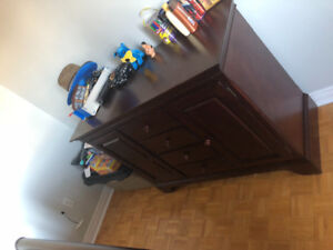 Double bed and dresser