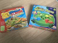 Hungry Frogs & 3D Snakes and Ladders