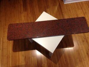 Comptoir de cuisine en marbre de qualité (11.5 x 51.5 pouces)