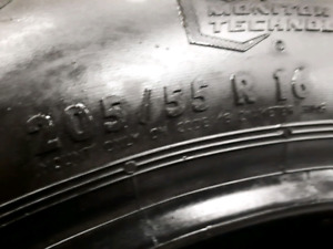 Set of 4 tires 205/55/16 GENERAL