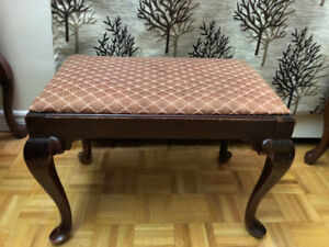 Mid 19th century antique bench by the Kling Factories NY