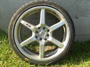 """17"""" 4 bolt civic rims and rubber"""