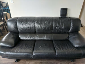 Leather Couch + Loveseat