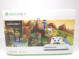 Xbox One S 1TB Edition Minecraft + 2 Jeux
