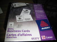 110 CARTES D'AFFAIRES BLANCHES - AVERY