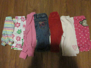 3-6 month girls pants