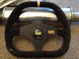 OMP Kubic Suede Steering Wheel