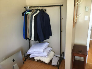 Metal Rack for Clothes, Hats Etc - Priced to Sell!