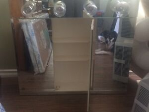 Three door mirror/medicine cabinet