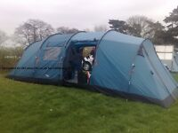Vango Tigris 800 8 man tent with fitted carpet and extension