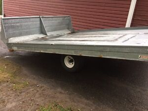 Double Northern trail snowmobile trailers  8x10