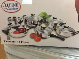 Brand New in Box 12 Piece cookware stainless steel