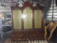 Pecan china cabinet for sale