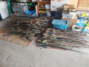 Hundreds of Fishing Rods and Reels - GREAT COLLECTION