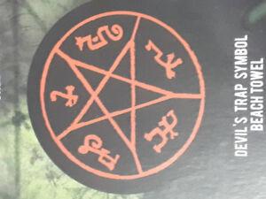 Supernatural Devils Trap Symbol beach towel