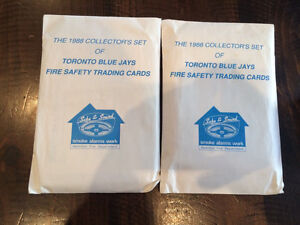 Toronto Blue Jays Fire Safety Trading Cards Kitchener / Waterloo Kitchener Area image 2