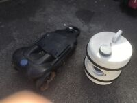 Waste water and fresh water rollers for caravanning or camping