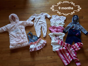 Baby girl clothing 6 to 9 months