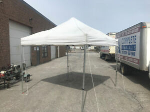 Used 10 x 10 pop up tent Heavy Duty Frame