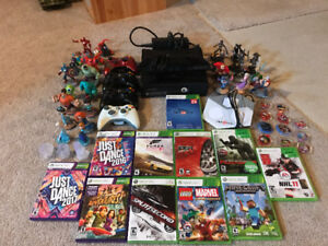 XBOX 360 with Kinect plus 1TB external hard drive and many more