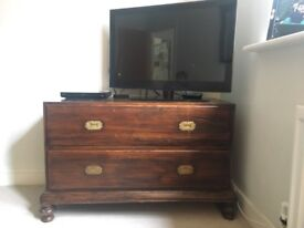 Antique solid wood drawers/tv unit