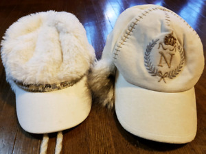 Two warm girls hats  fot 3-6 years old