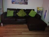 Brown leather sofa for sale £170
