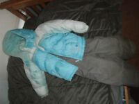 Grey & Light Blue Snowsuit