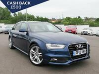 2012 AUDI A4 2.0 TDI 143 S Line Bluetooth GBP1,325 of Extras