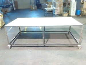 ** Work Table with Caster Wheels / brakes (Used)