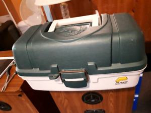 Fishing rods and tackle box