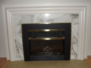 Fireplace Mantle Marble Slabs - 3-Piece Sets