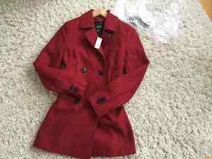 Manteau JACOB en laine de couleur rouge Saguenay Saguenay-Lac-Saint-Jean image 1