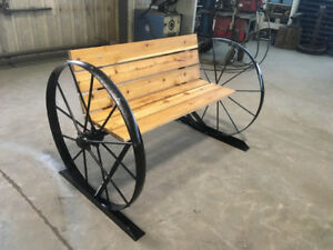 wagon wheel benches