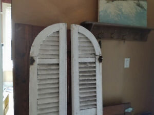 Antique wooden shutters 1 set of 2