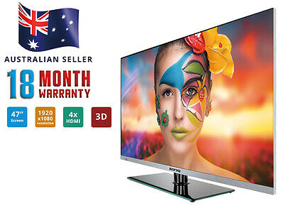 "SONIQ 47"" 3D Smart Borderless FHD LED TV (REFURBISHED) T2E47S14A"