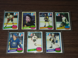 "1980-81 Rookie cards of 7 members of ""Miracle on Ice"" Olympics"