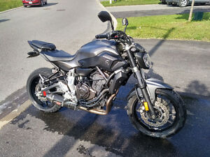 Yamaha fz-07 with flash tune and exhaust