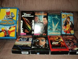 10  movies  VHS cassette format