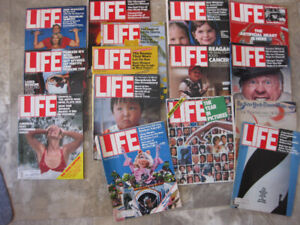 15 Life Magazines from about 1980